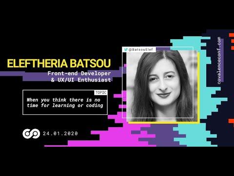 Eleftheria Batsou - Public Speaking