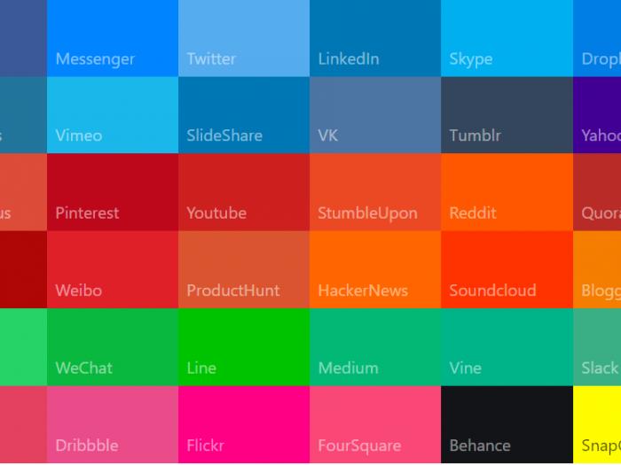 Social media colors - material UI